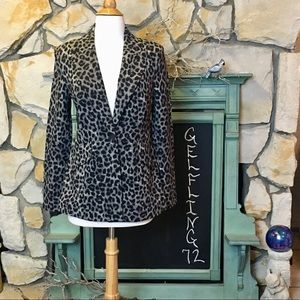 CAbi Leopard Print Jungle Jacket Blazer